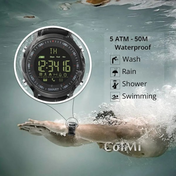 Smart Watch Waterproof IP68 with 5ATM Passometer Message Reminder 2