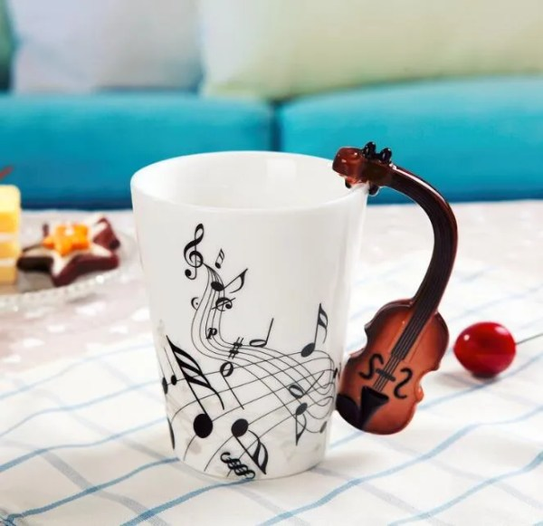 Musical Instruments Style Novelty Ceramic Mugs 6