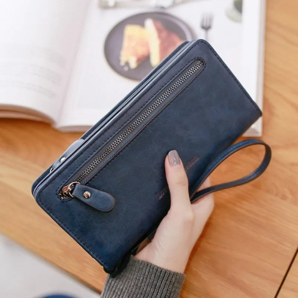 Women Fashion PU Leather Long Wallet 6