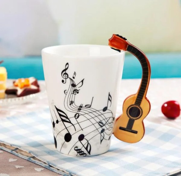 Musical Instruments Style Novelty Ceramic Mugs 17