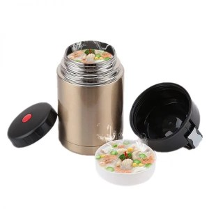 Double Stainless Steel Thermos Food Containers Lunch Box