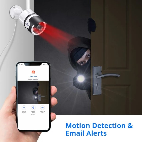Hiseeu 2MP Wifi Waterproof Outdoor IP Security Camera 4