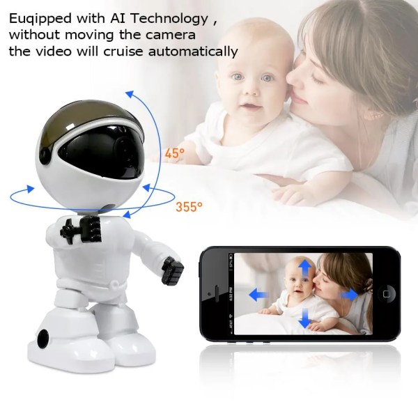 Hiseeu 2MP HD Wireless IP Wifi 1080P Robot Camera 1