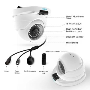 Reolink 5 MP Dome Security Camera Functions