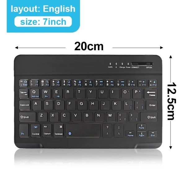 Mini Wireless Bluetooth Rechargeable Keyboard 6