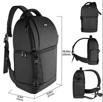 DSLR Sling Camera Backpack Bag 6