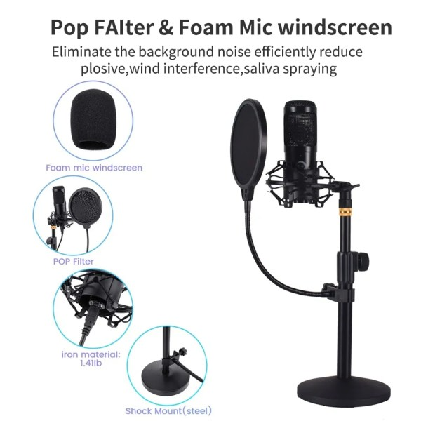 Felby USB Podcasting Condenser Microphone 2