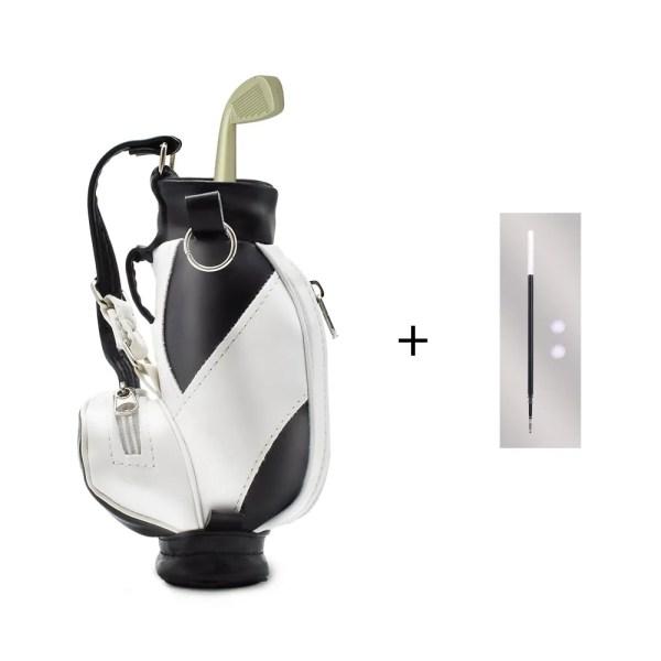 Mini Golf Pens Holder with Pen for Desk Decoration Bag Golf Gift for Golfer Coworker Fanatic Fans