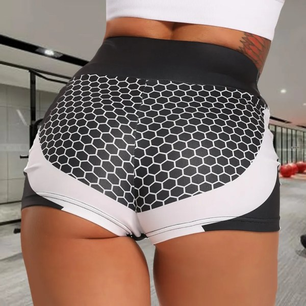 3D Mesh Sexy Yoga Shorts Women Sports Wear Fitness Short Pants Skinny Female Push Up Gym Clothing Elastic Breathable Sportwear