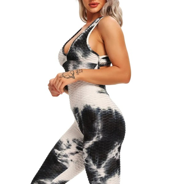 New snake pattern print Women Yoga Set Halter Sports Suit Backless Sexy Yoga Jumpsuit High Waist Hips Trousers Fitness Tracksuit