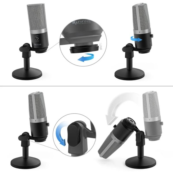 FIFINE USB Microphone for laptop and Computers for Recording Streaming Twitch Voice overs Podcasting for Youtube Skype K670