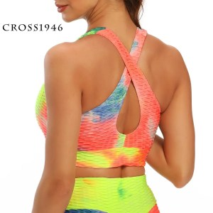 CROSS1946 Women Running Push Up Sports Bra Brassiere