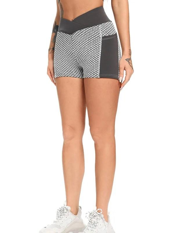 Women Mesh Push Up Gym Shorts 15