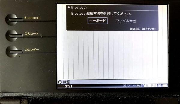 DM100のbluetooths接続画面