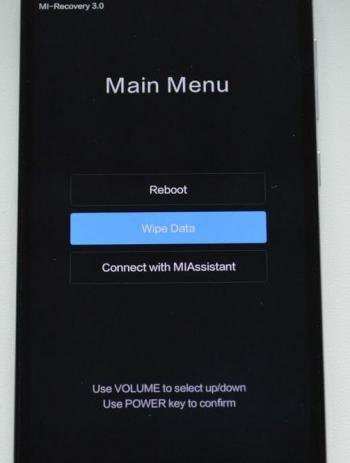Töröljük a Xiaomi helyreállításától