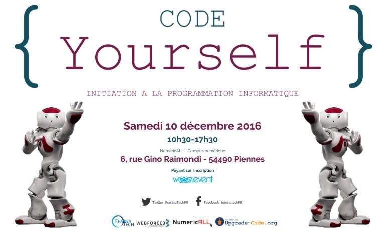 Code YourSelf - 10 Décembre 2016 - Campus NumeriCALL - Piennes à 10h