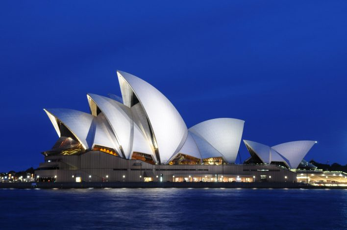 The Sydney Opera House in Sydney, Australia