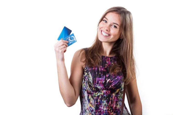 Girl Holding Multiple Cards