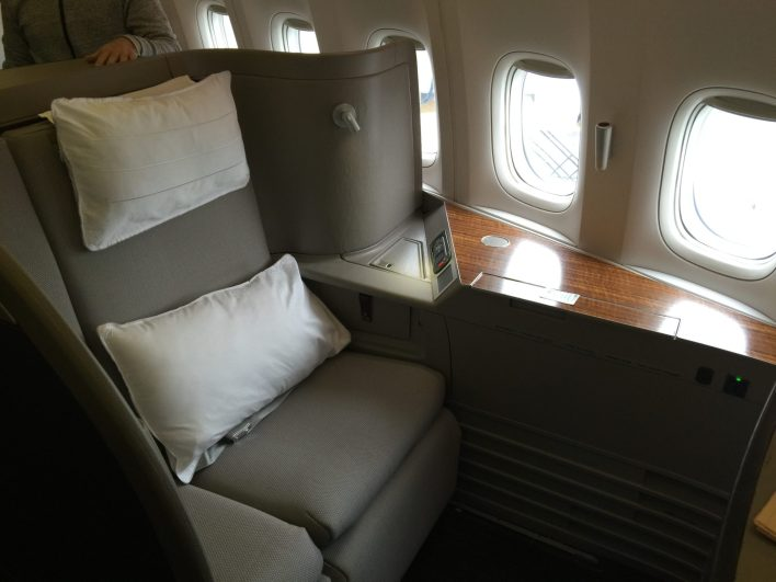 Cathay Pacific First Class 777 Chicago to Hong Kong