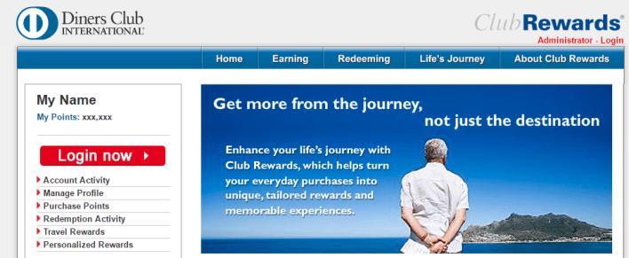 marriott rewards diners club international