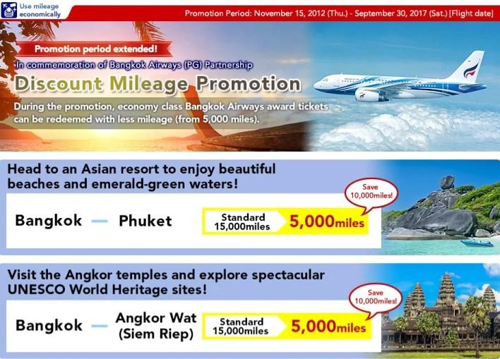 Bangkok Airways Discount Mileage Promotion