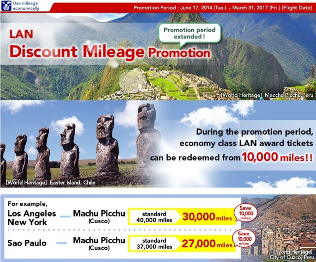 LAN Discount Mileage Promotion