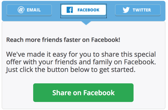 Chase Facebook Referral