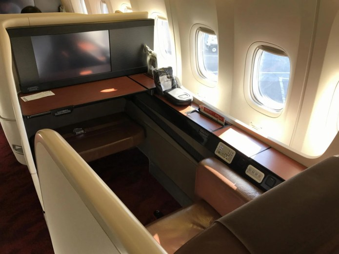 JAL First Class, Seat Photo