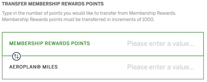 American Express Membership Rewards Transfer Points