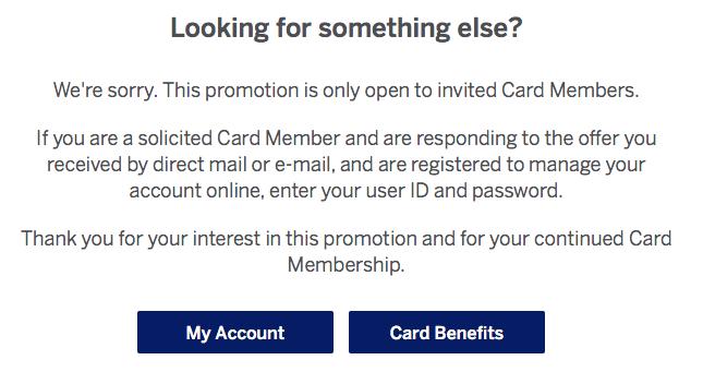 SPG Promo Registration Denial