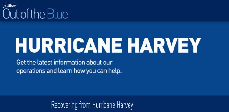 JetBlue Hurricane Harvey Relief Efforts