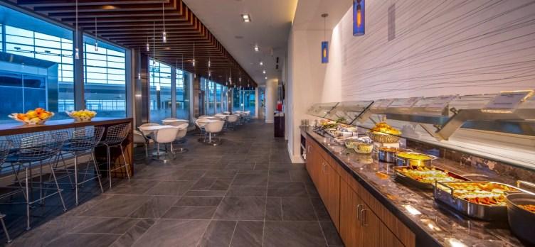 DFW American Express Centurion Lounge Buffet