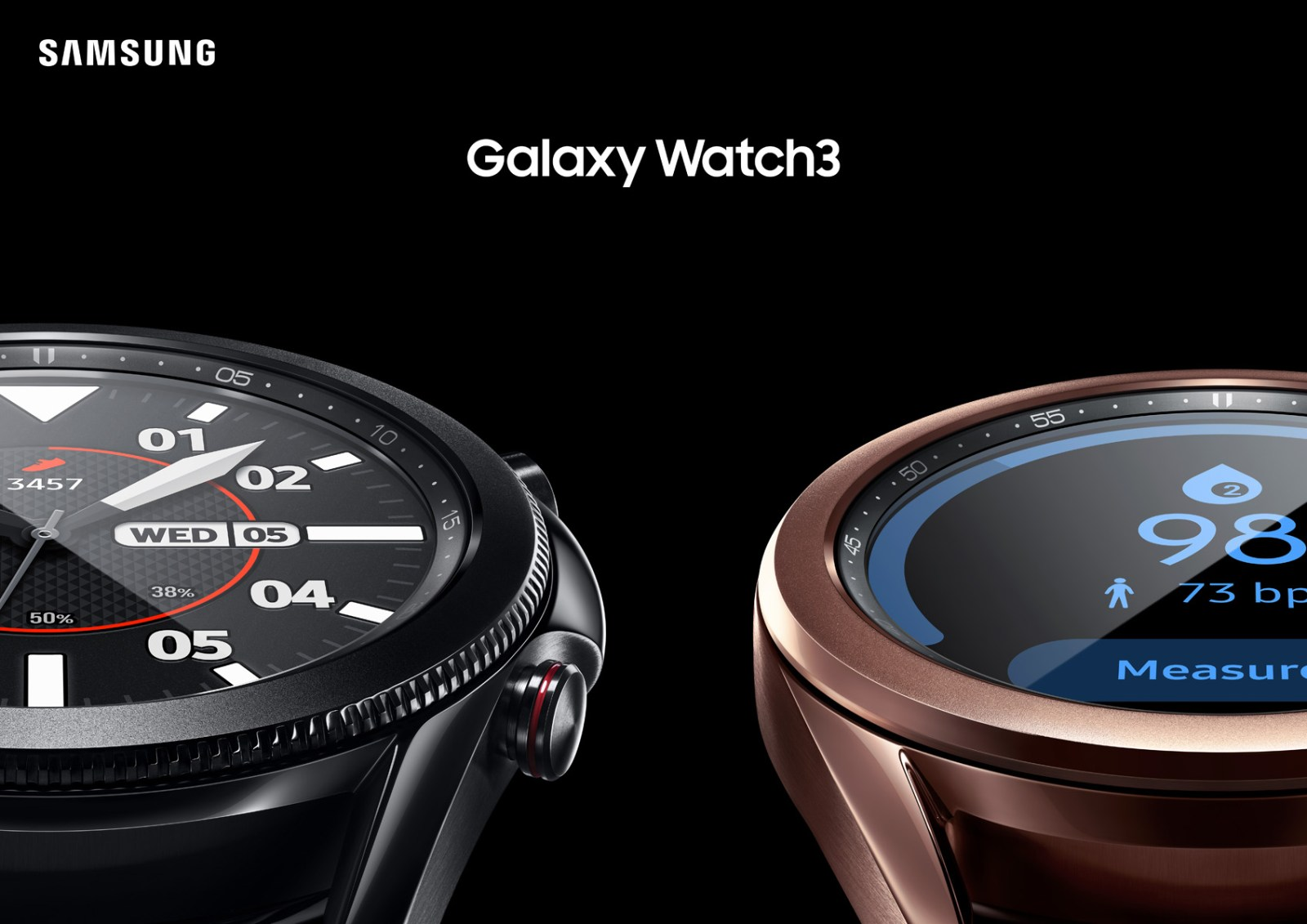 A brand New Samsung Galaxy Watch series 3 features