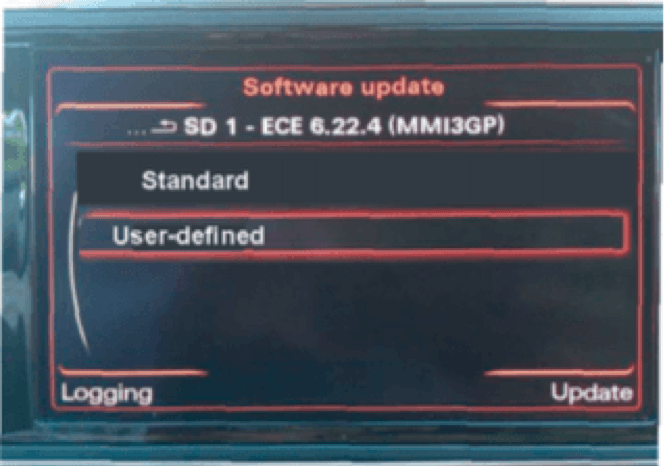 Enabled user-defined mode