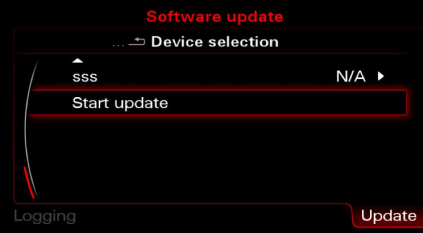 MMI 3G start maps updates process