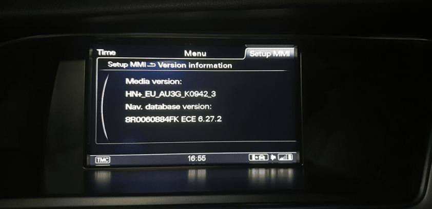 MMI 3G: Version information