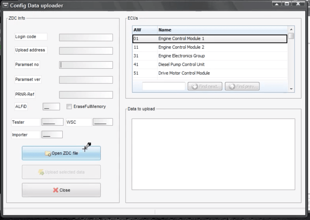 VCP - Config data uploader. Rescue bose.