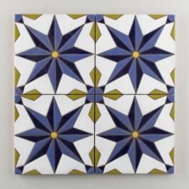 Fireclay Tile - The Classic Cuerda Seca Collection - Vitoria Cool Motif
