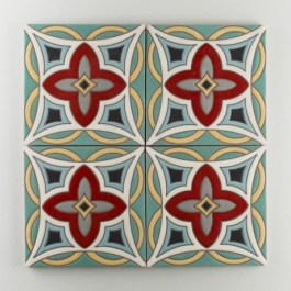 Fireclay Tile - The Mediterranean Collection - Malta Warm Motif