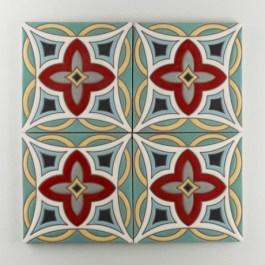 Fireclay Tile - The Mediterranean Collection - Malta Warm Motif