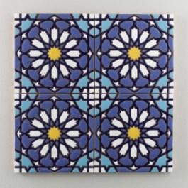 Fireclay Tile - The Classic Cuerda Seca Collection - Moorish Knot Cool Motif