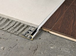 PROELEGANT Chromed brass Flooring joint - PROGRESS PROFILES Chromed brass Line