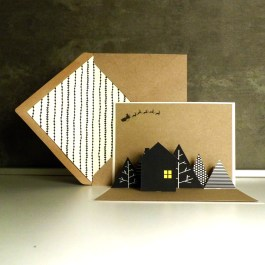 HOUSE pop-up card | upgradesign/papertopeople