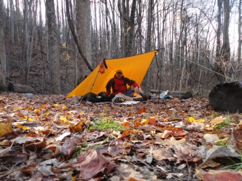 Campsite 19 on Meigs Mountain Trail - it was a windy night.