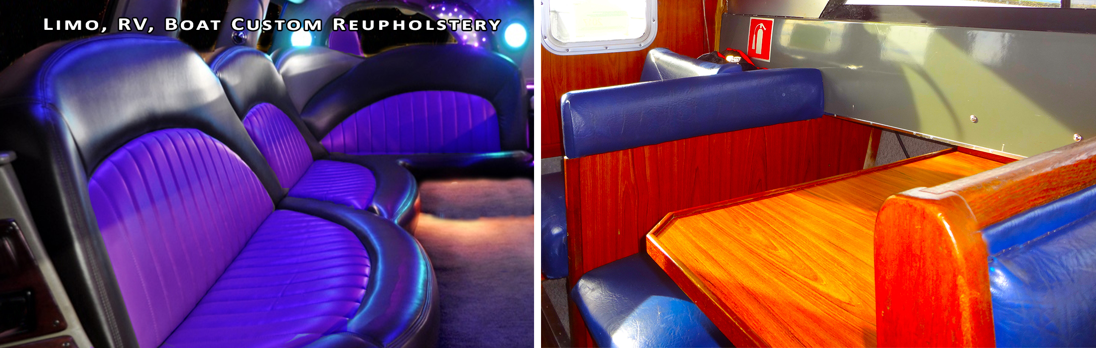... Limo, RV, Boat Custom Reupholstery By Pacific Design Furniture ...