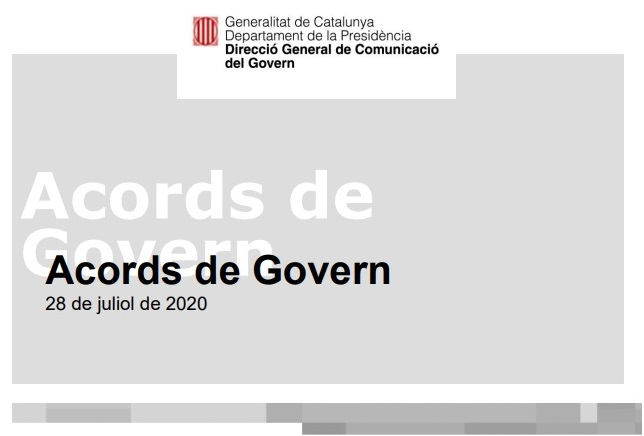 ACORDS DE GOVERN