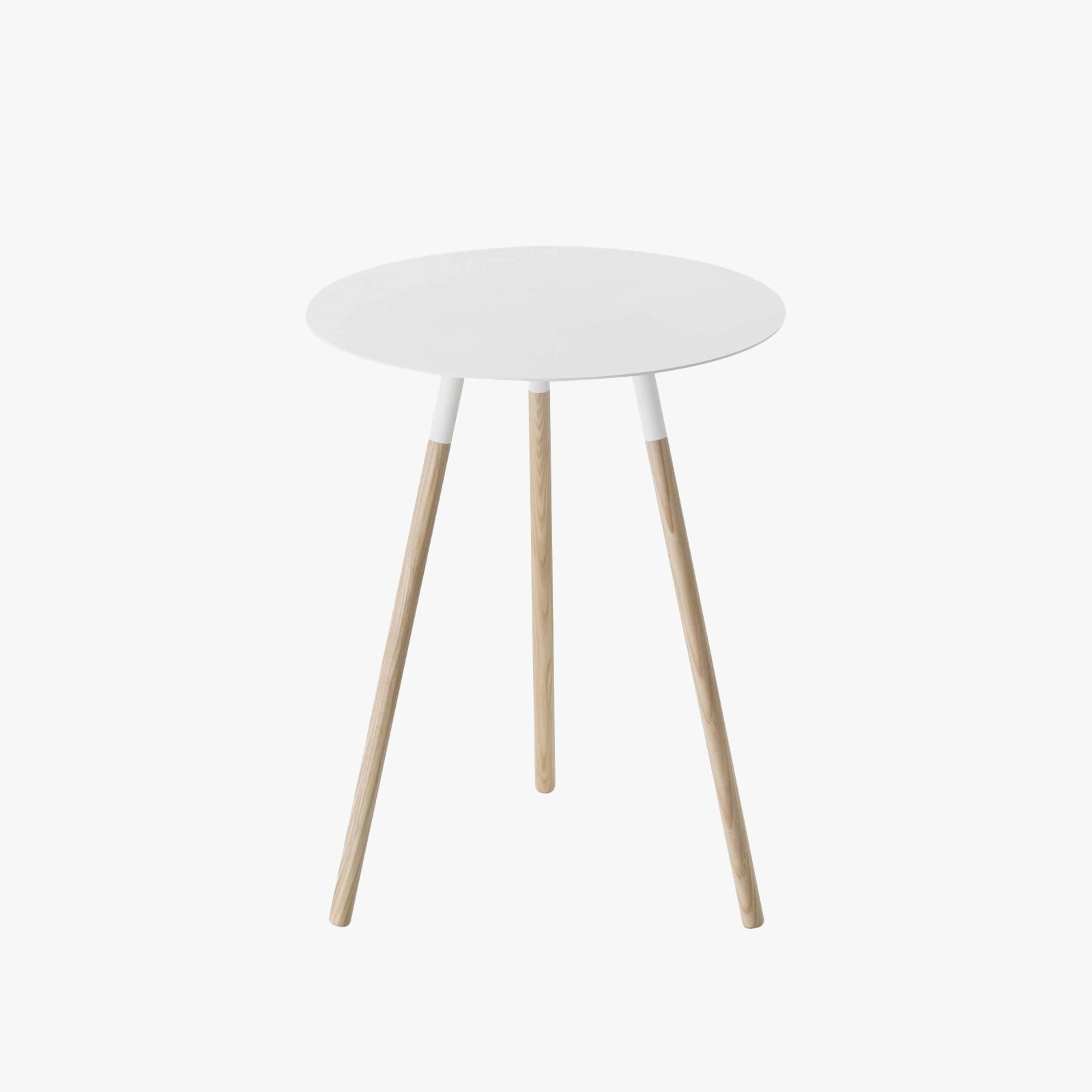 Plain Small Round End Table By Yamazaki Up Interiors