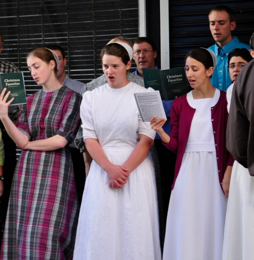 Christian Mennonite singers, Broadway and Sixth St