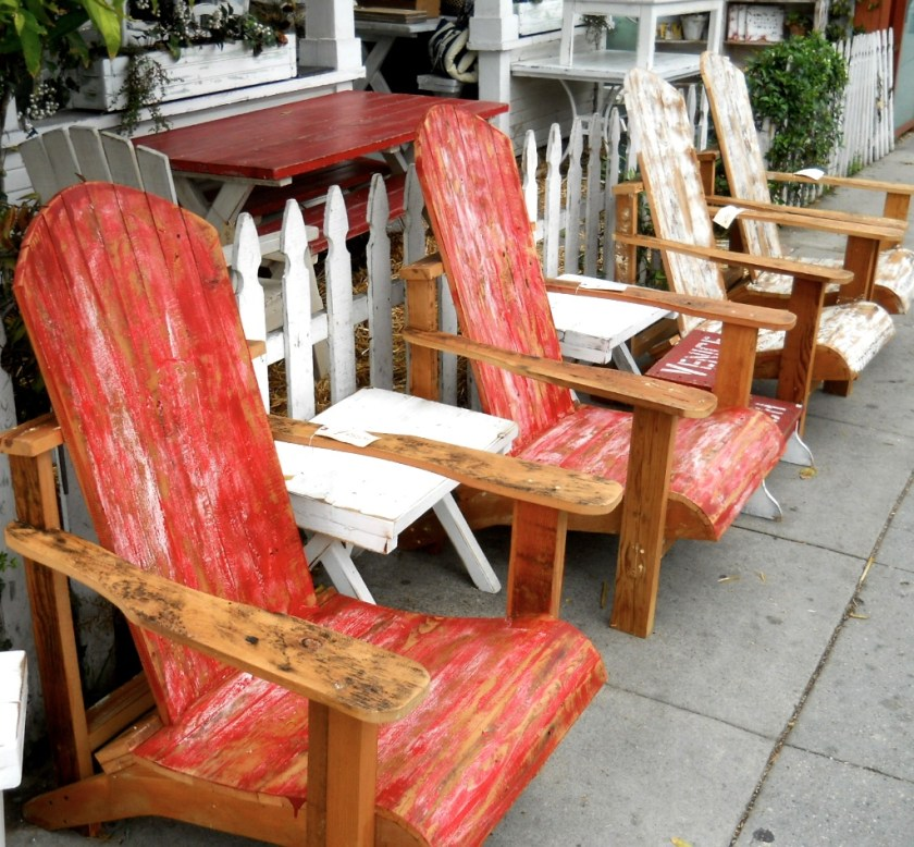 $650 lawn chairs made from scrap lumber