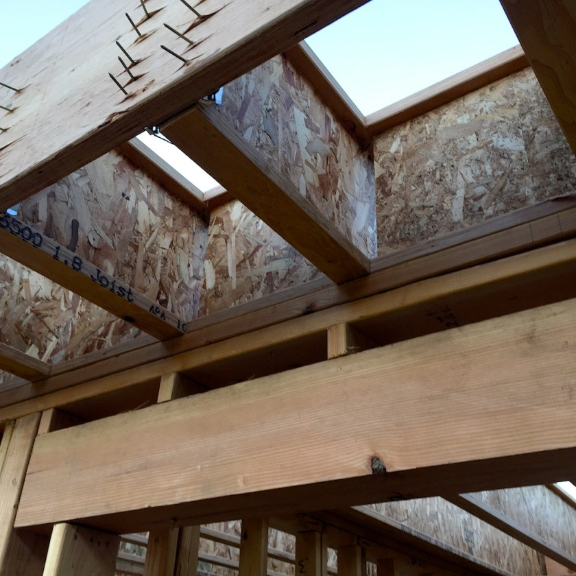 And structural beams made of wood chips and glue
